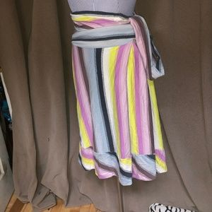 Marc Jacobs $350 Beach Ball stripe faux wrap skirt